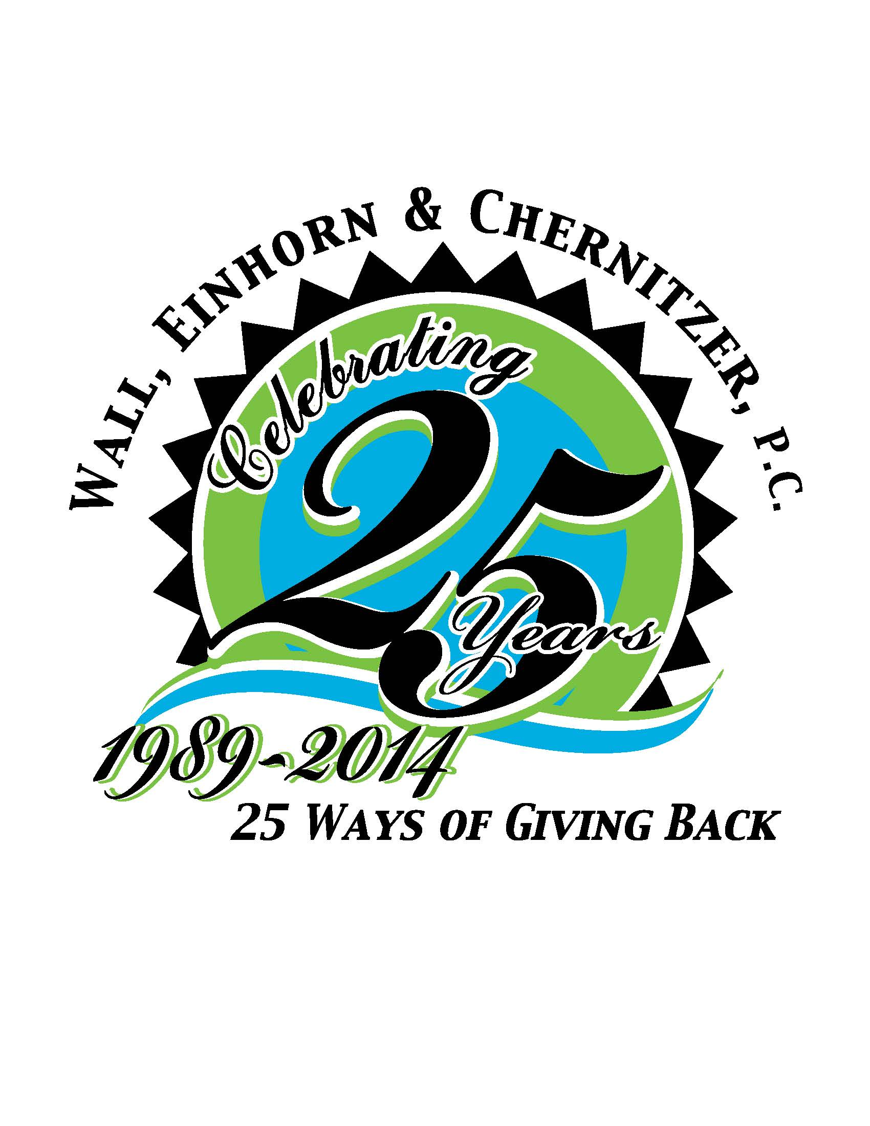 "Wall, Einhorn & Chernitzer, P.C. ""25 for 25"" Silver Anniversary Campaign to Benefit Local Charities"