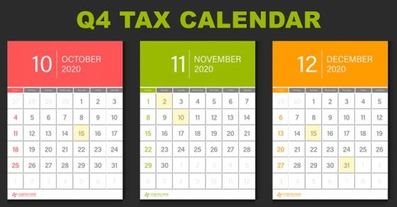 2020 Q4 Tax Calendar: Key Deadlines for Businesses and Other Employers Image